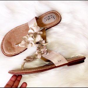BORN Leather Floral Sandals